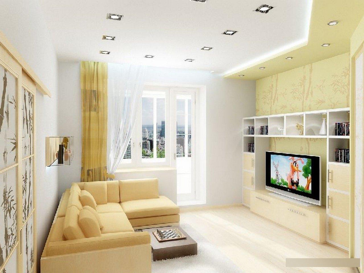 Эксклюзивный дизайн зала в квартире 18 кв. м: полезные совет.