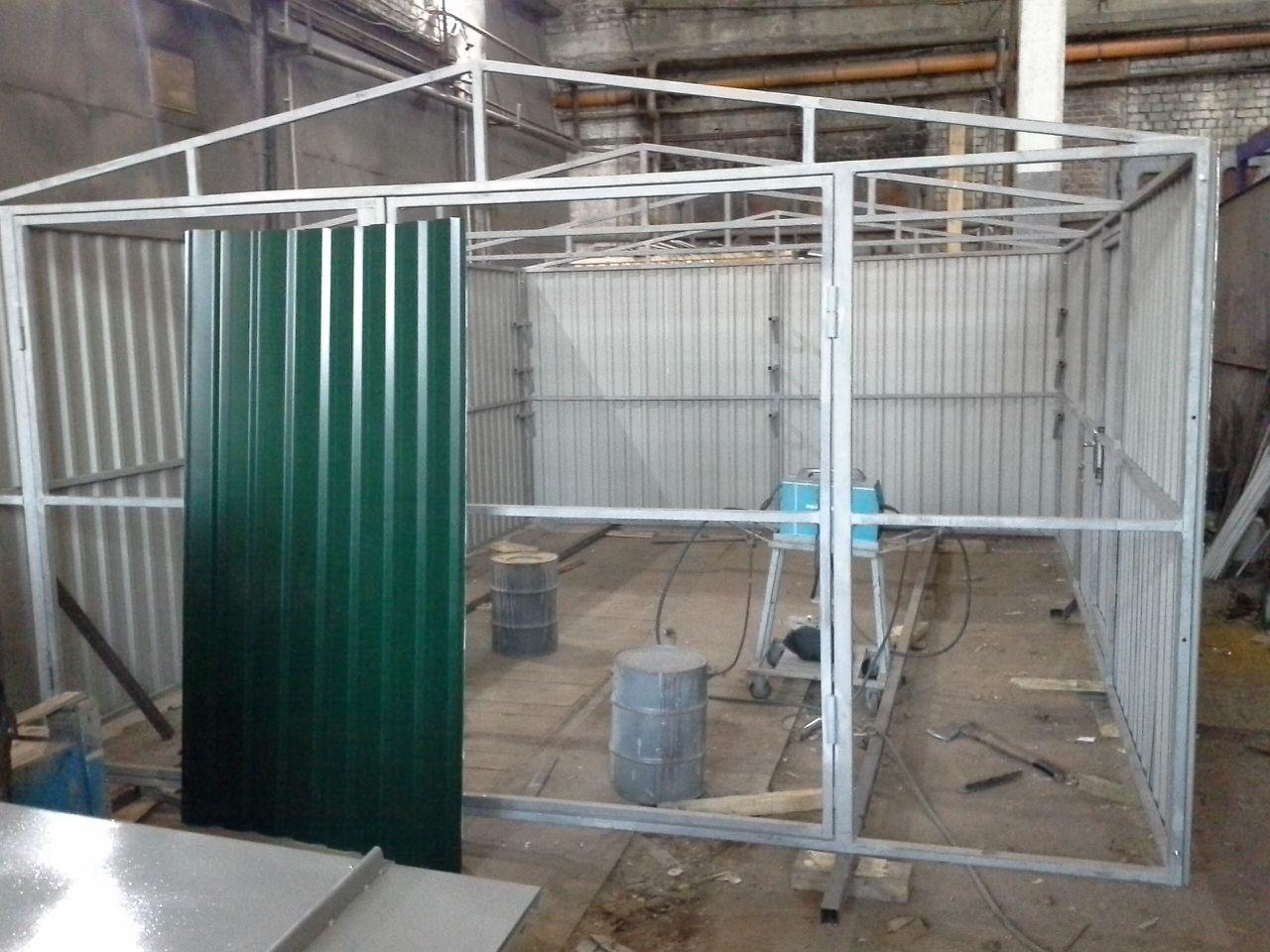 Строительство гаража из профильной трубы своими руками